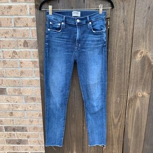 AGOLDE Sophie High Rise Skinny Crop Claremont 27